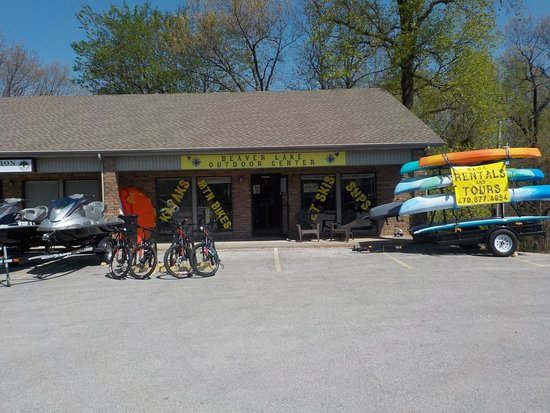 Rogers, AR: They offer rental kayaks, mountain bikes, and stand up paddle boards! They also have jet ski tou