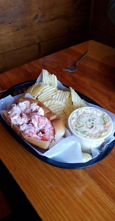 Lobster Shack: The Lobster Roll combo (that came with one clam chowder)