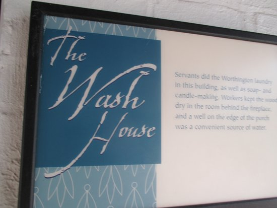 Adena Mansion and Gardens: sign for the wash house.