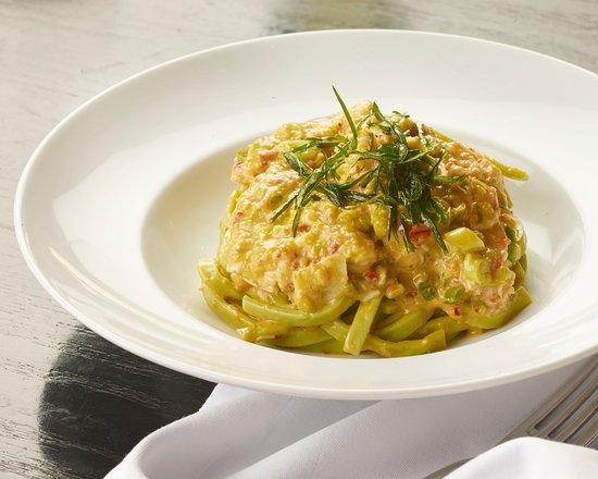 Scarpetta: Pici (lobster, tarragon, almond & chili pesto)