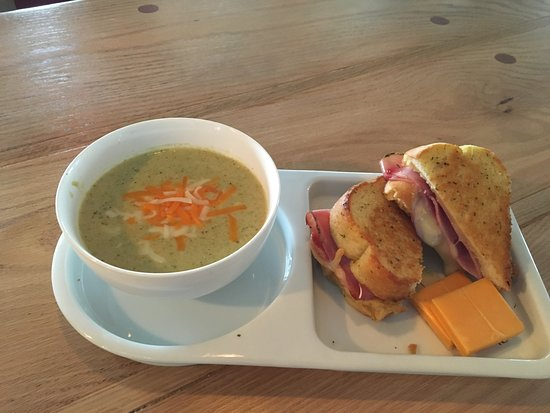 Pictou, Canada: soup and sandwich