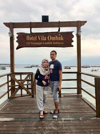 Gili Islands, Indonesia: jetty at Vila Ombak