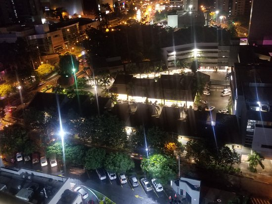 Affinity Apart Hotel : View from room night