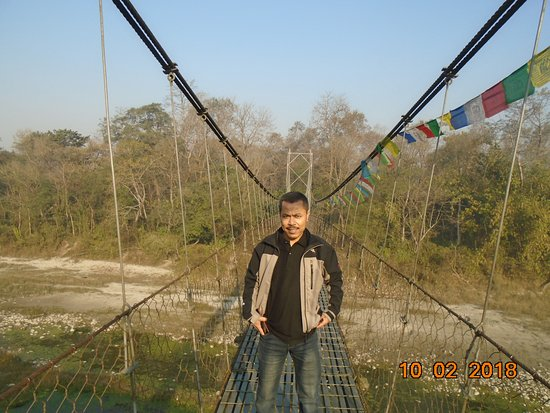 Bharatpur, Непал: Suspension Bridge
