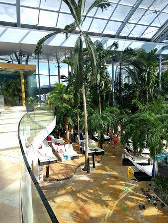 Therme Bucuresti: Udsigten over The Palm fra Elysium