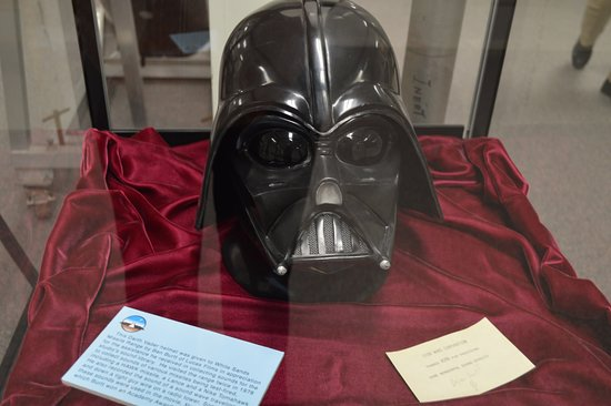 White Sands Missle Range Museum: Darth Vader mask from LucasFilms as a thank you for providing sound effects