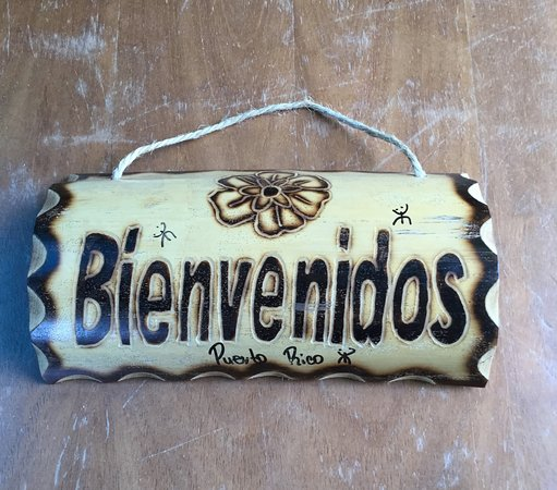 for sale at the rincon post office showcase - Bienvenidos wall decor