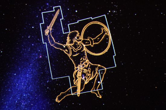 Orion Constellation Displayed In The Planetarium Picture Of Blake