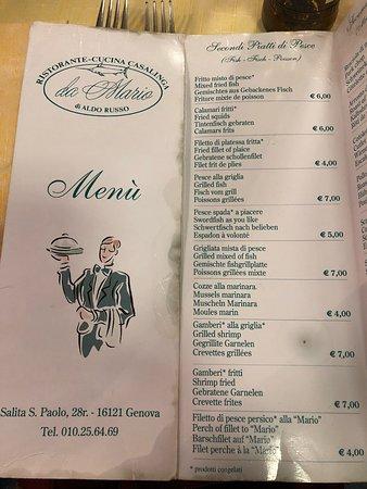 Ristorante cucina casalinga da mario in genova con cucina for Cucina arredi genova