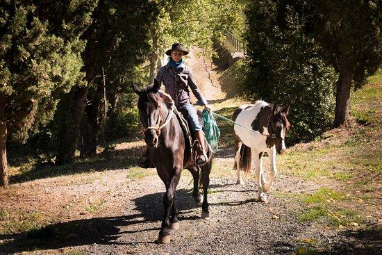 Borgo Pignano Horseback Riding: Barbara the Horseback riding instructor
