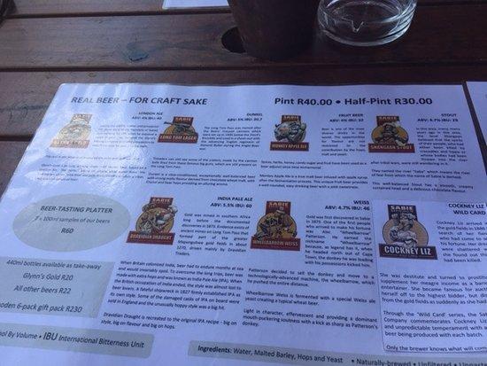 Sabie, South Africa: Beers