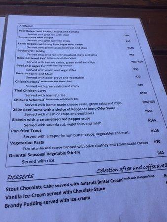 Sabie, Sudafrica: Main Food
