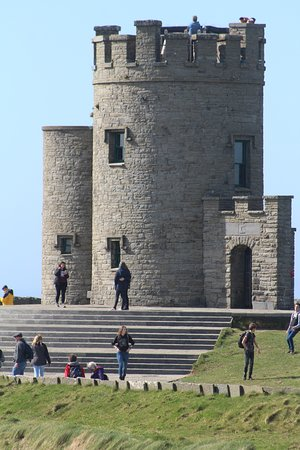 Burren and Cliffs of Moher Geopark: O'Brien's Tower, on the highest plot of ground, requires a nominal admission fee.