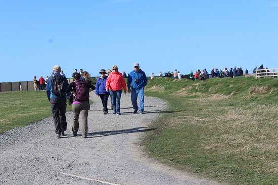Burren and Cliffs of Moher Geopark: From the parking lot, there is a bit of a hike to get up to the viewing area.