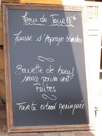 Au Bistrot d'Arian : menu du jour
