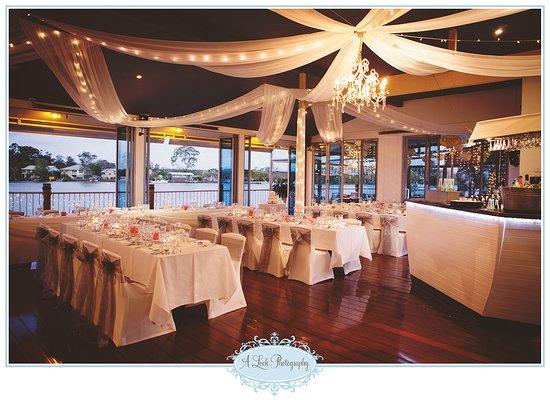 Tewantin, Australia: Restaurant set for wedding