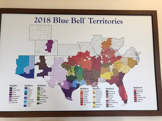 Blue Bell Creameries: Blue Bell ice cream nation-wide in most states