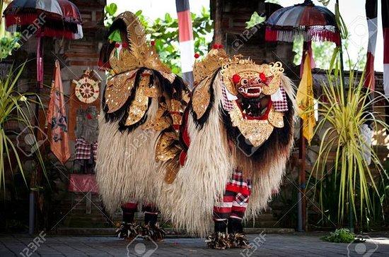 Bali tradizionale danza, cascata e