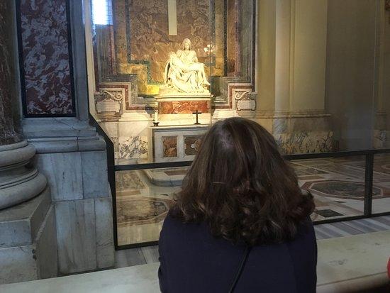La Pieta: The back of my head. Isn't she lovely?...(Mary, not me)