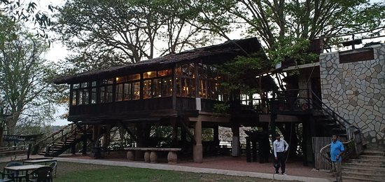 Panna Tiger Reserve, Indien: The Dinning cum River viewing deck