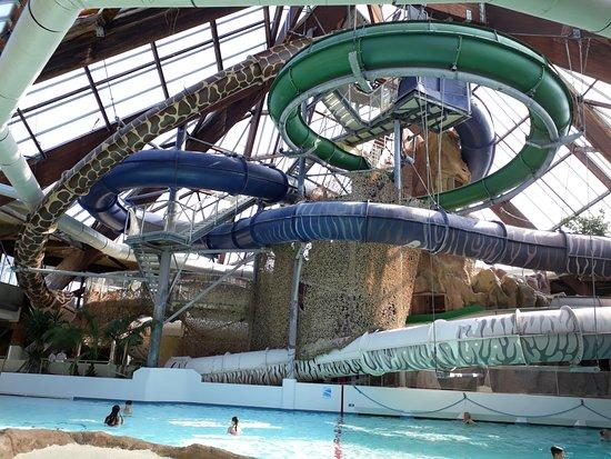 Toboggan int rieur photo de aqualud le touquet paris for Toboggan interieur