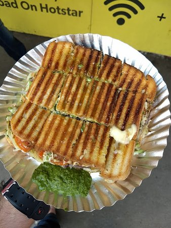 Anand Stall: Mini Veg Grill Cheese Sandwich