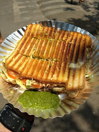 Anand Stall: Veg Mini Grill Cheese Sandwich