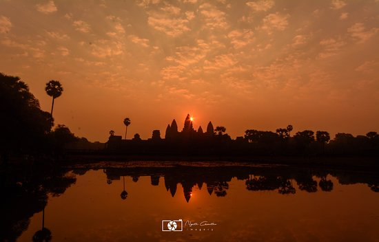 Takeo Province, Cambodia: The most beautiful sunrise at Angkor Wat Temple