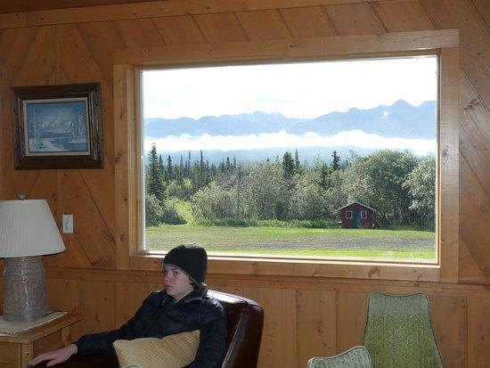 Glacier View, AK: seriously, that's the view