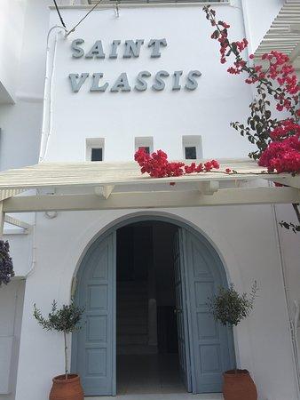 Saint Vlassis Hotel: Entrance