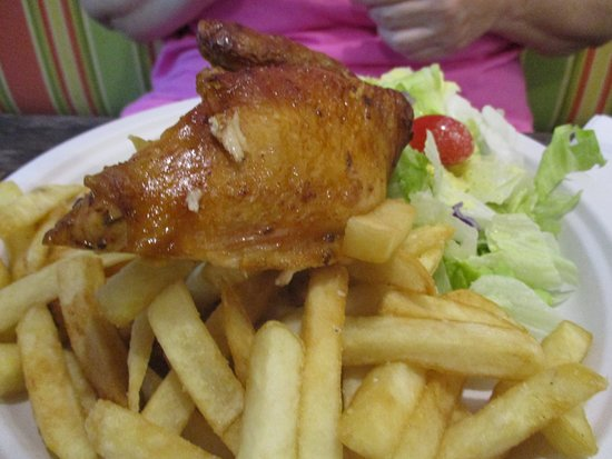 Indialantic, FL: Combo 3: 1/4 Chicken with FF and Salad. Tasty and priced right.