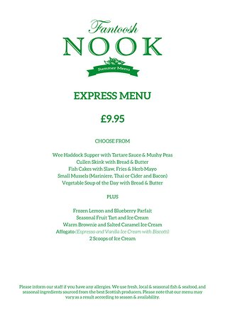 ‪‪Milngavie‬, UK: Express Menu available lunch time Tuesday to Saturday‬