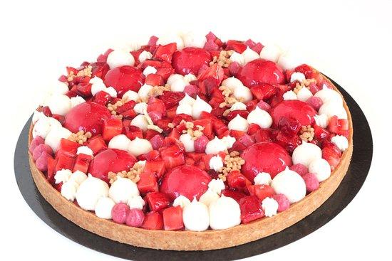 Mi Cielo Patisserie : tarte aux fraises et vanille de tahiti, grands gateaux sur commande