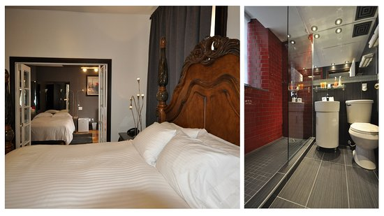 Swiss Hotel: Deluxe King with Double bed ensuite + Fireplace