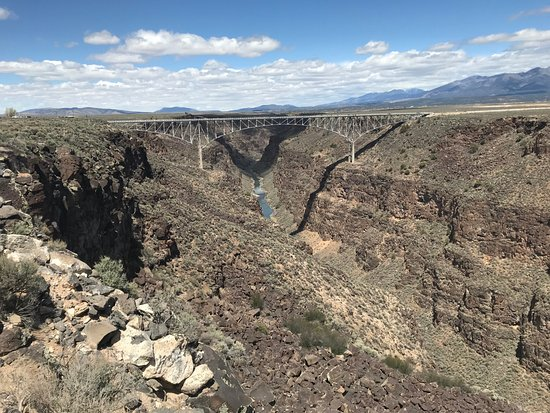 Taos County, NM: The Rio Grande Gorge with Bridge