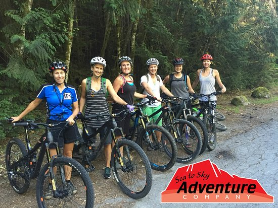 Sea to Sky Adventure Company: Group of ladies out for a ride.