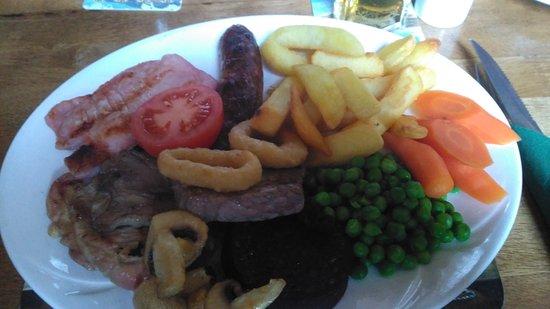 Cumwhinton, UK: Mixed grill