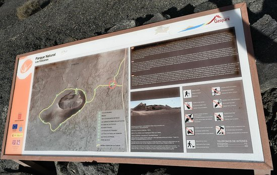 La Asomada, Spain: Information Board about Route