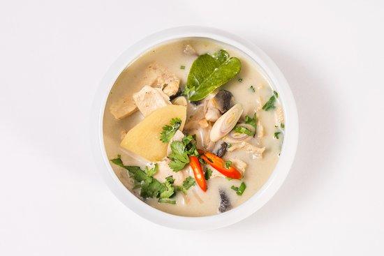 Valognes, فرنسا: Thom Kha Kai ( soupe poulet -champignons- citronelle - lait de coco)