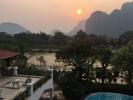 Vansana Vang Vieng Hotel: The pool
