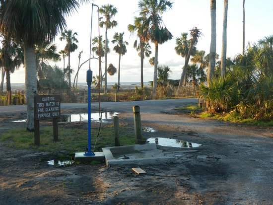 Hunting Island State Park Campground: Dump Station - just one at this time