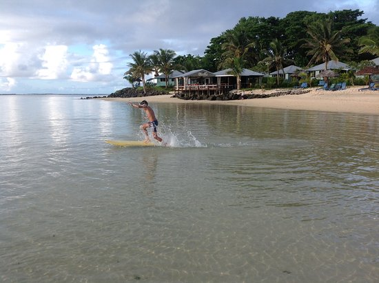 Savaii Lagoon Resort: Boarding is a must, lots of fun.