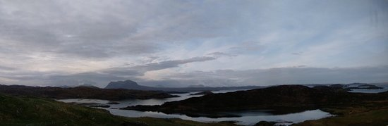 Scourie, UK: Panorama from the back door