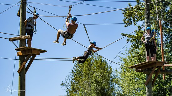 On the aerial course in Woodinville, WA