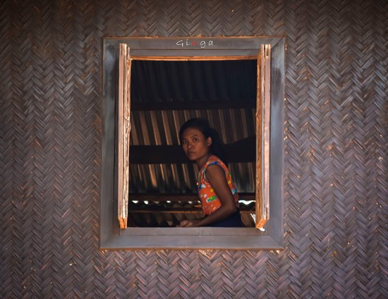 Popa, Myanmar: The lady in the house.
