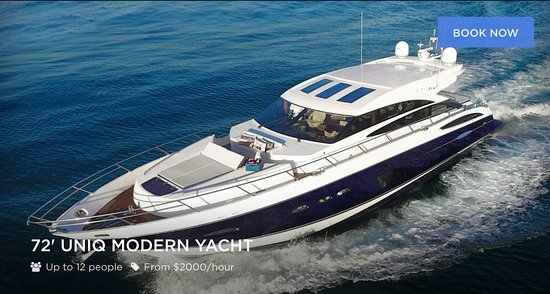72' UNIQ Modern Yacht | Private Captained Charters - up to