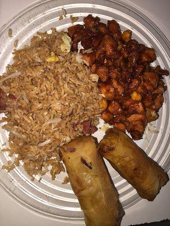 Odenton, MD: Chicken with cashews, pork fried rice, spring rolls
