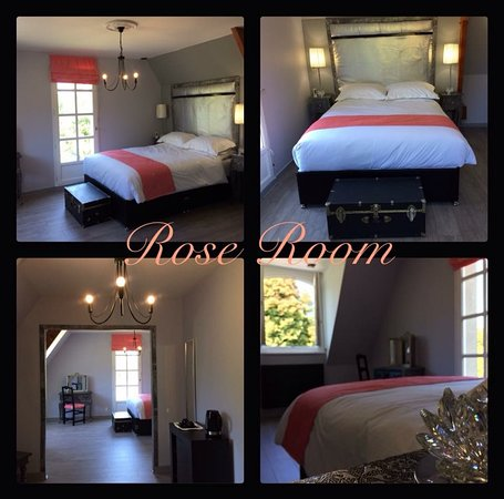 Tessy-sur-Vire, Frankrike: Rose Room with Sofa Bed. Accomodates 3 person