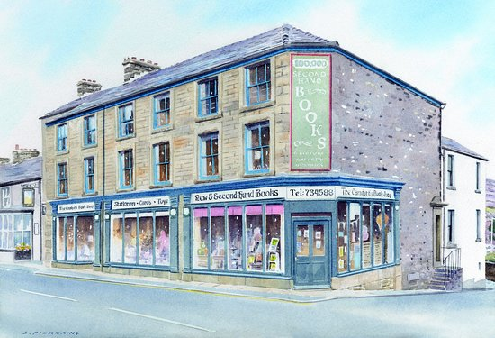 Карнфорт, UK: Watercolour Painting of the Shop