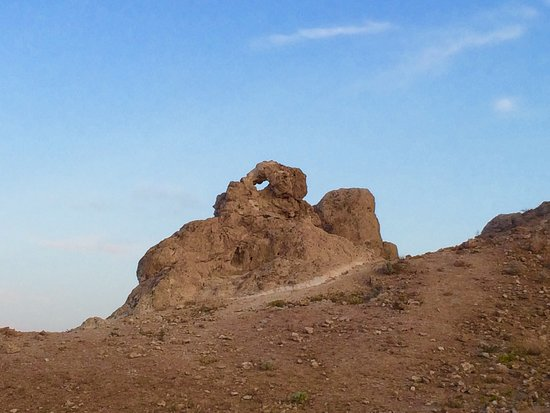 Trona Pinnacles: This rock is so cool up close. Makes for a great photo through it...hint!